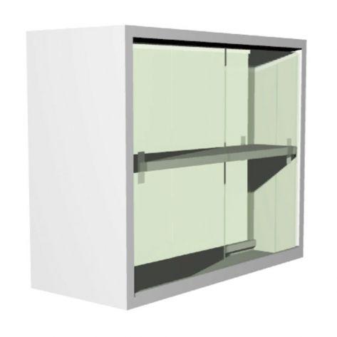 Estantes vitrinas de colgar de 90 – 100 – 120 cm de frente x 35 cm